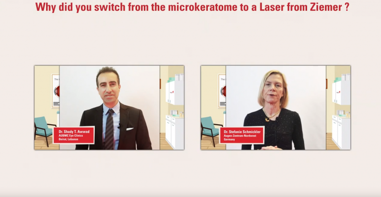 Prof. Awwad and Dr. Schmickler speak about, why they switched from microkeratome to the FEMTO LDV Z8
