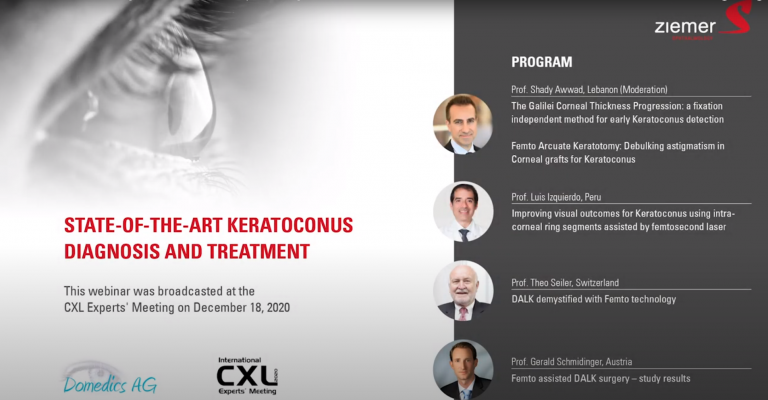 State of the Art Keratoconus Diagnosis and Treatment - CXL Experts' Meeting